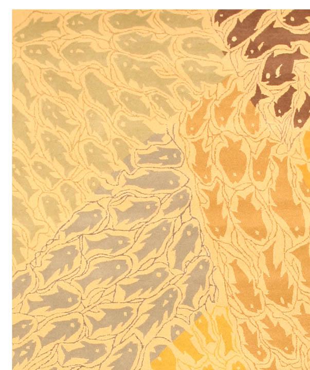 ... Hand Tufted Wool Fish Rug (7u00279 X 9u00279)