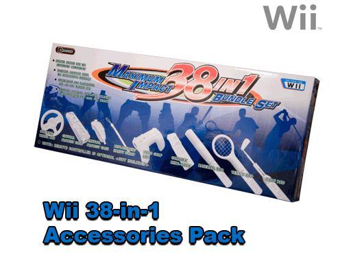 Nintendo Wii 38-in-1 Super Accessory Bundle Pack