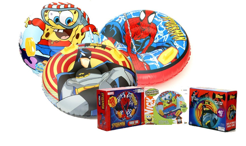Intertube Set With Sponge Bob Spiderman And Batman Pack