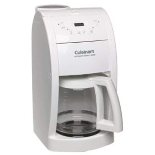 Cuisinart Coffee Maker In White : Cuisinart DGB-500 White Grind/ Brew Coffee Maker (Refurb) - Free Shipping Today - Overstock.com ...
