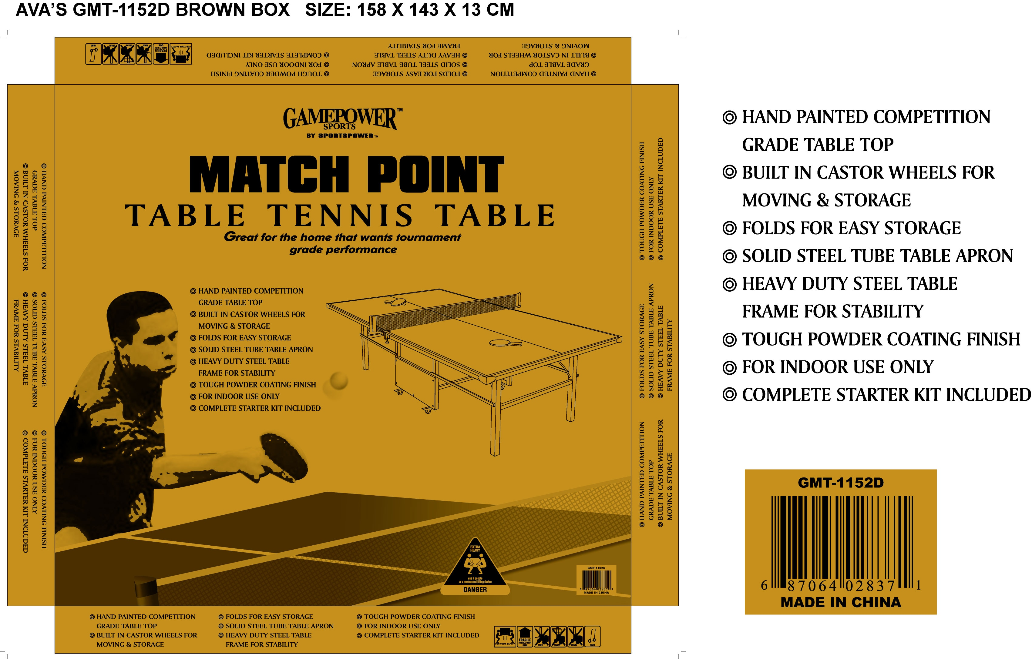 Deluxe Ping Pong Table Set - Thumbnail 1