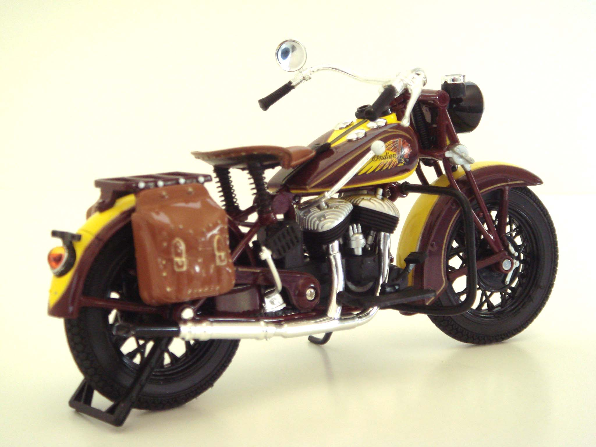 Vintage 1934 Indian Sport Scout Motorcycle Model Free