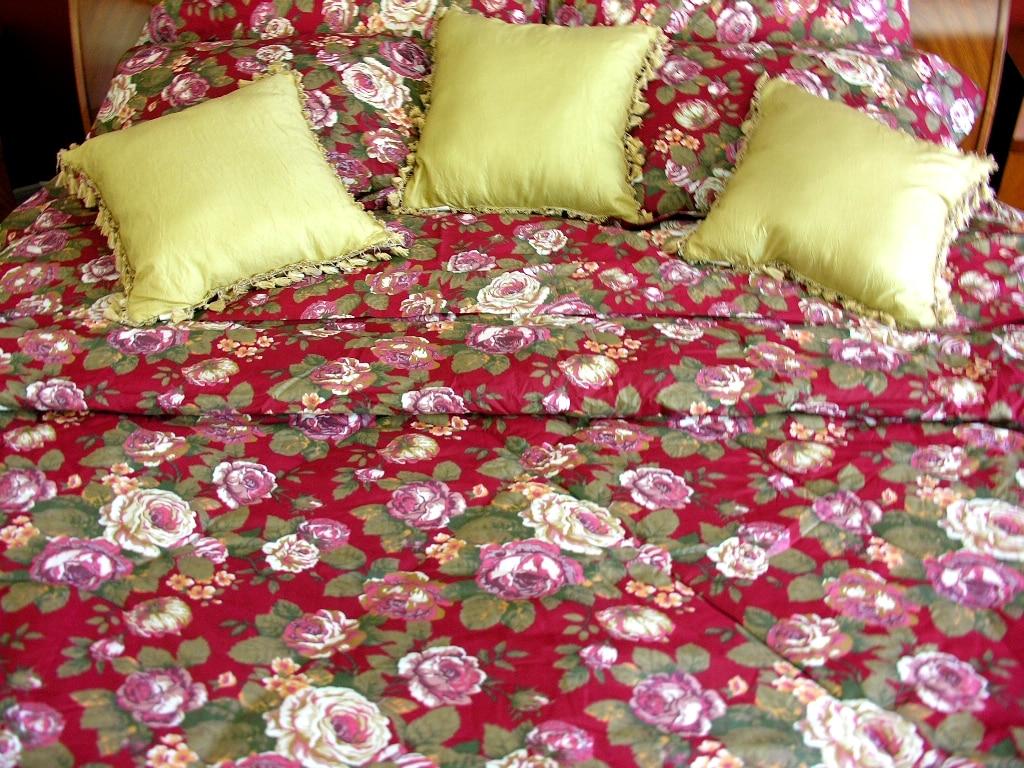Floral Cloud 7-piece Queen Comforter Set - Thumbnail 1