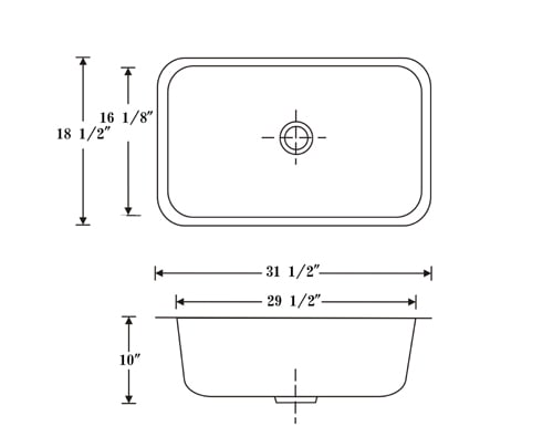DeNovo Extra Large Single Undermount Bar Sink - Thumbnail 1