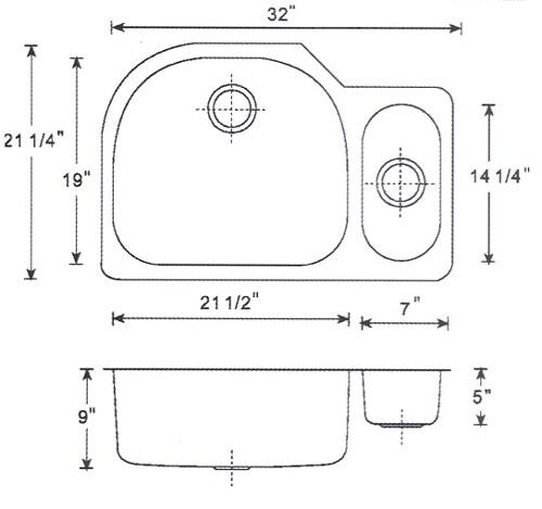 DeNovo Double D-Shape Undermount Sink