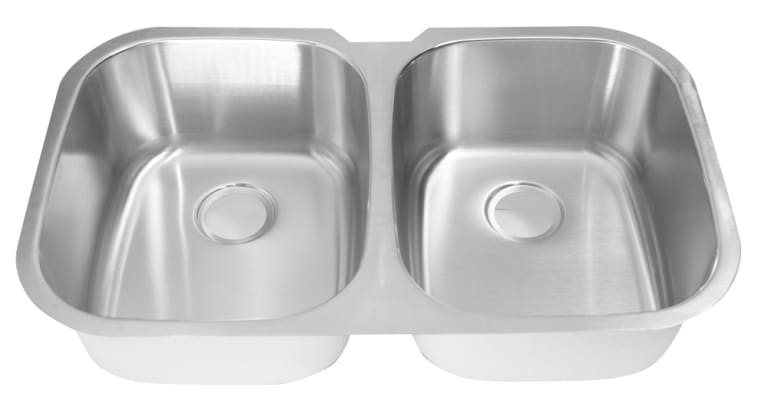 DeNovo Double Equal Size Stainless Steel Kitchen Sink - Thumbnail 1