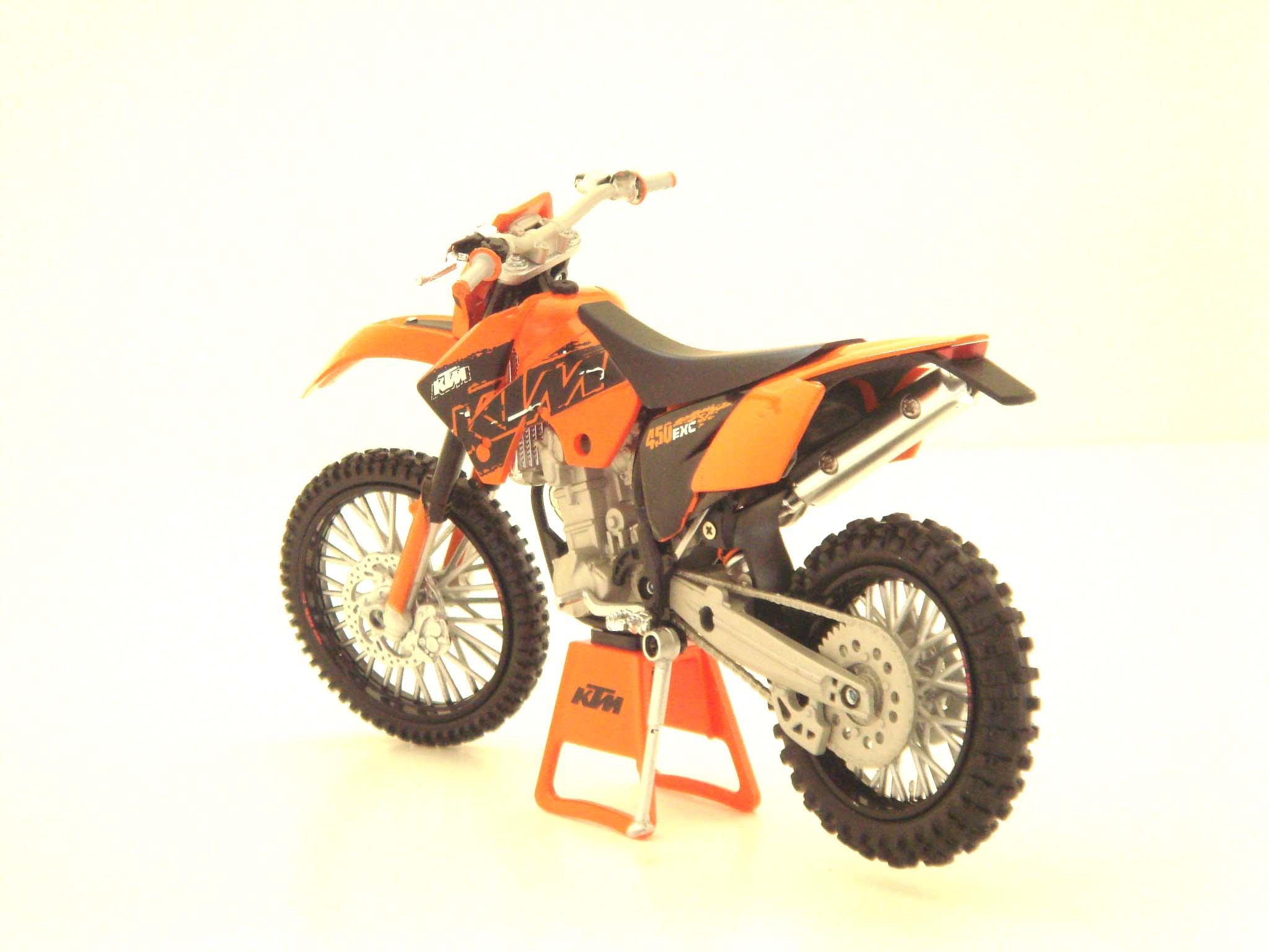 KTM 450 EXC Enduro Racing Diecast Dirt Bike - Thumbnail 1