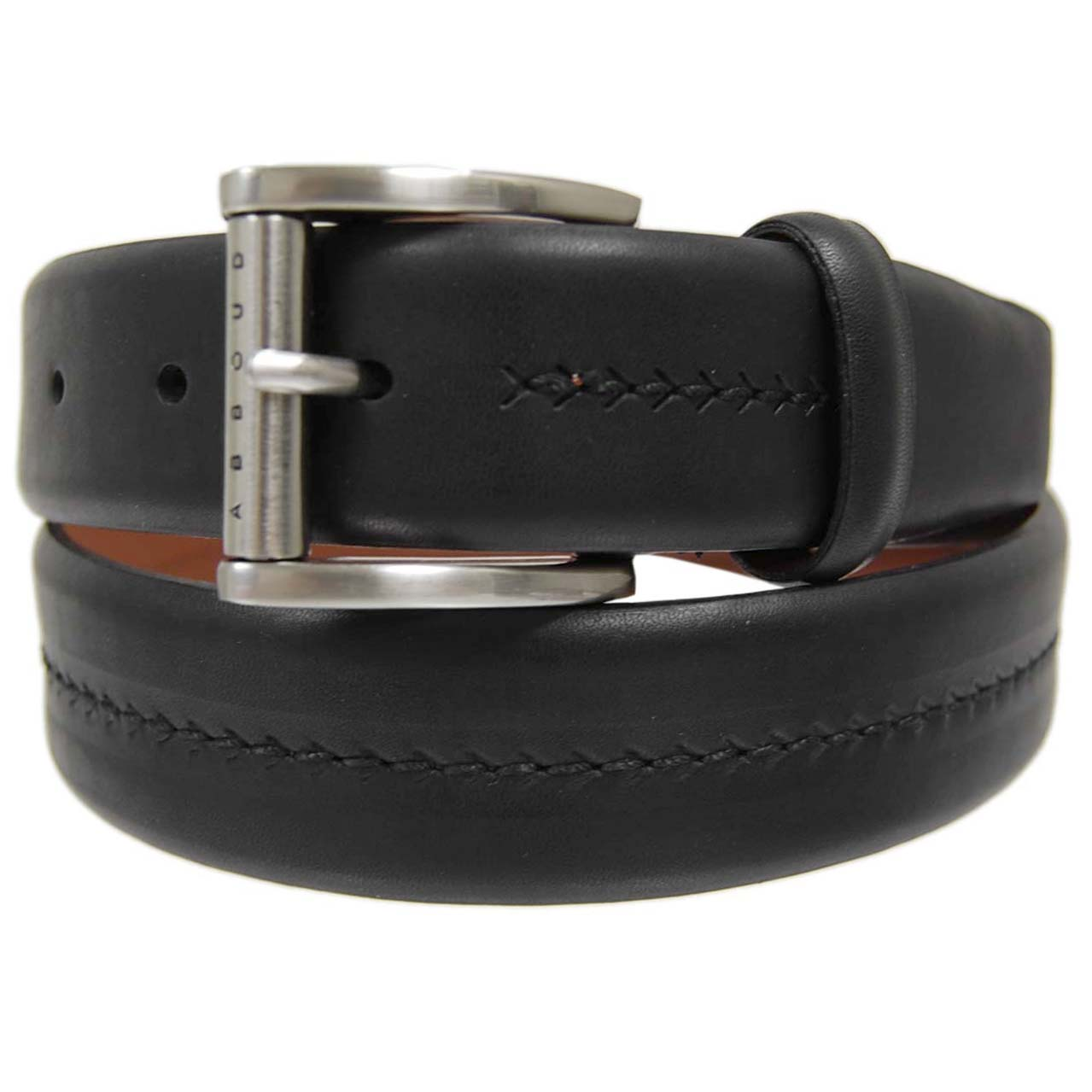 Joseph Abboud Men's Herringbone Leather Belt - Thumbnail 1