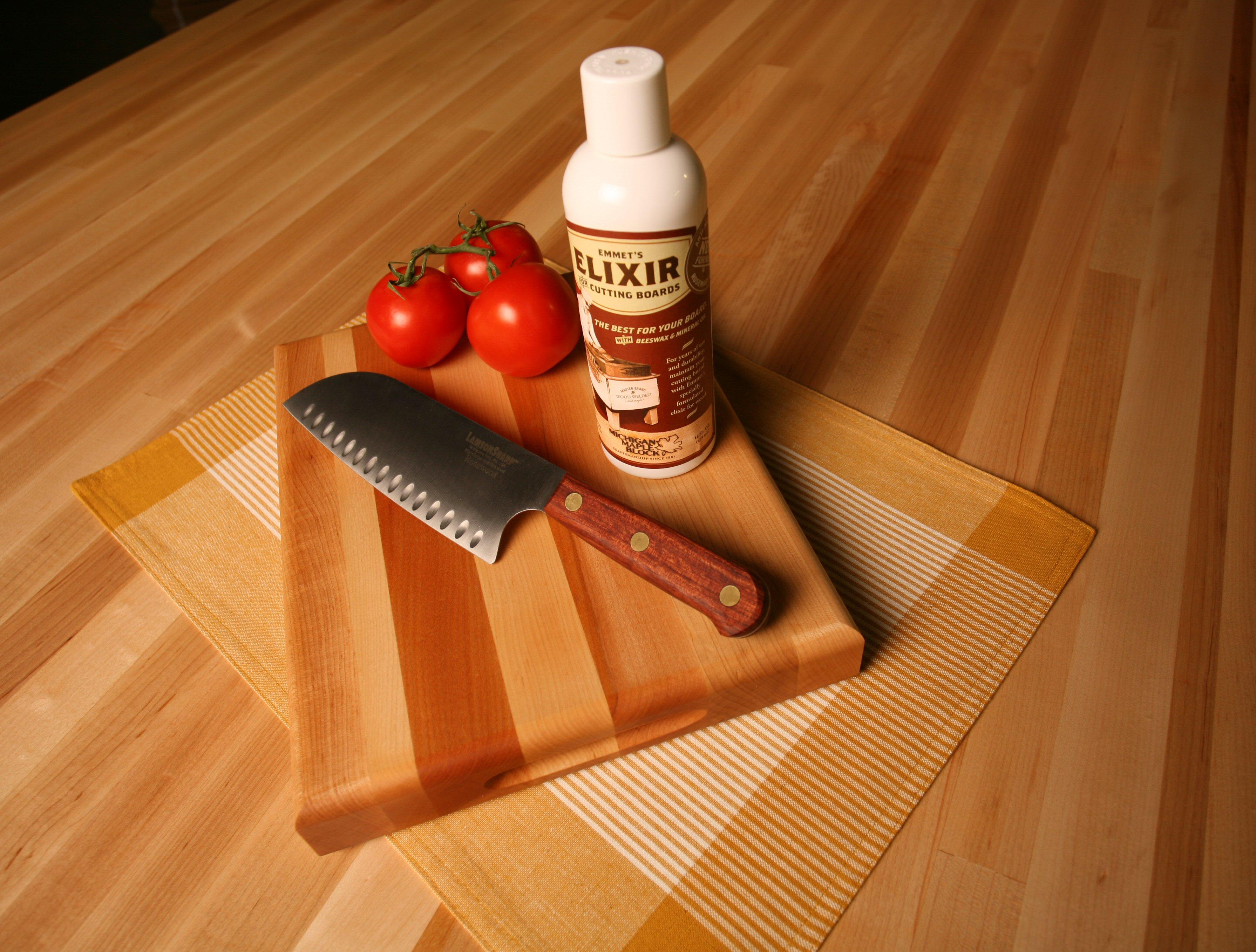 Maple Cutting Board/ Knife/ Elixir Set - Thumbnail 1