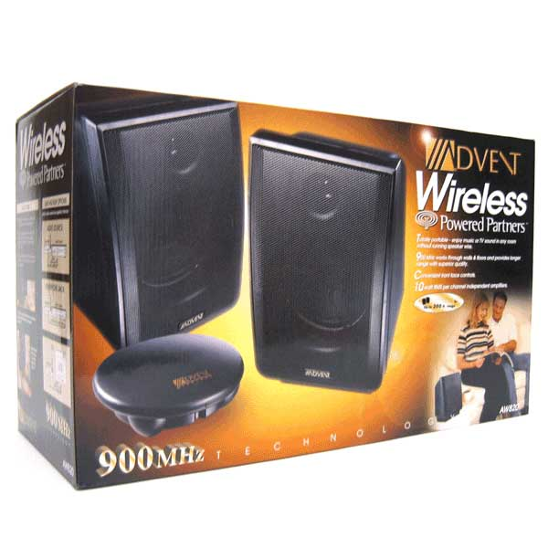 advent aw820 wireless stereo speakers free shipping. Black Bedroom Furniture Sets. Home Design Ideas