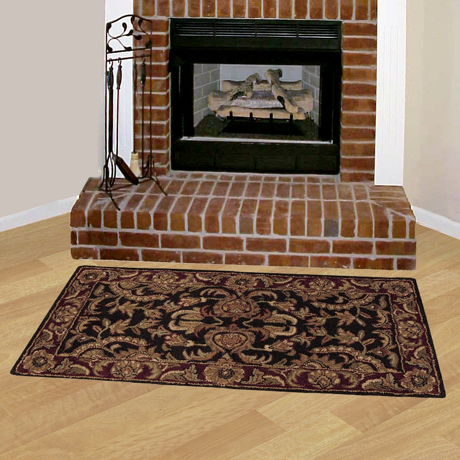 Distance From Fireplace To Rug: Set Of Two Hand-tufted Hearth Rugs (2' X 4')