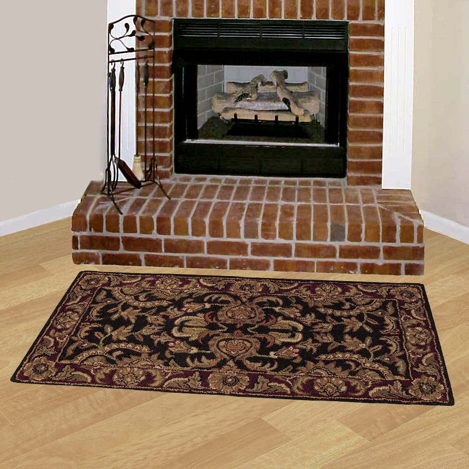 Set Of Two Hand Tufted Hearth Rugs