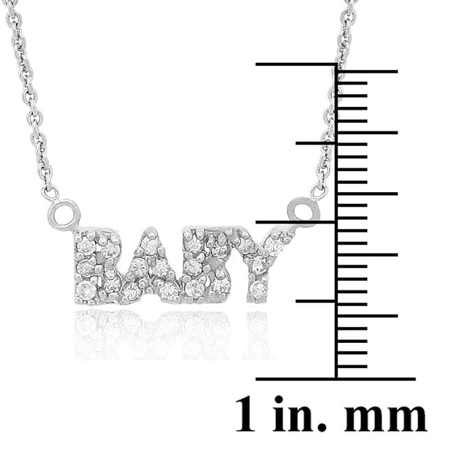 Icz Stonez Sterling Silver Cubic Zirconia 'Baby' Necklace