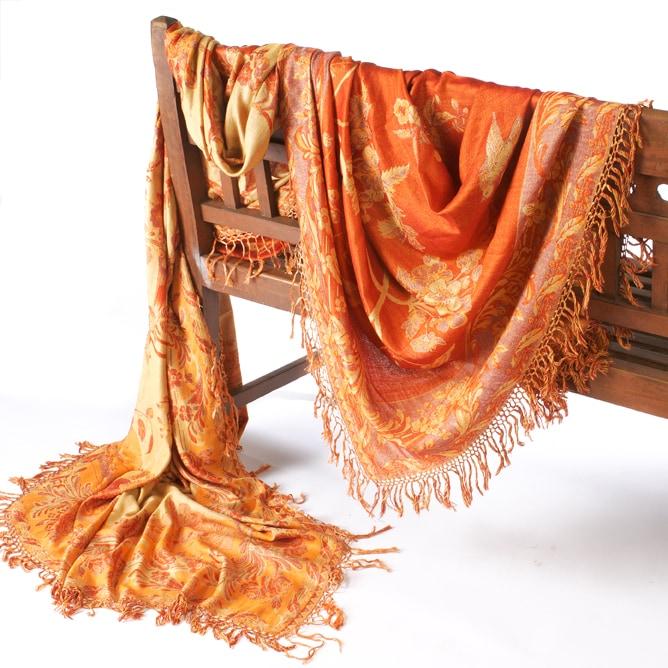 Merino Wool & Silk Throw (India) - Thumbnail 1