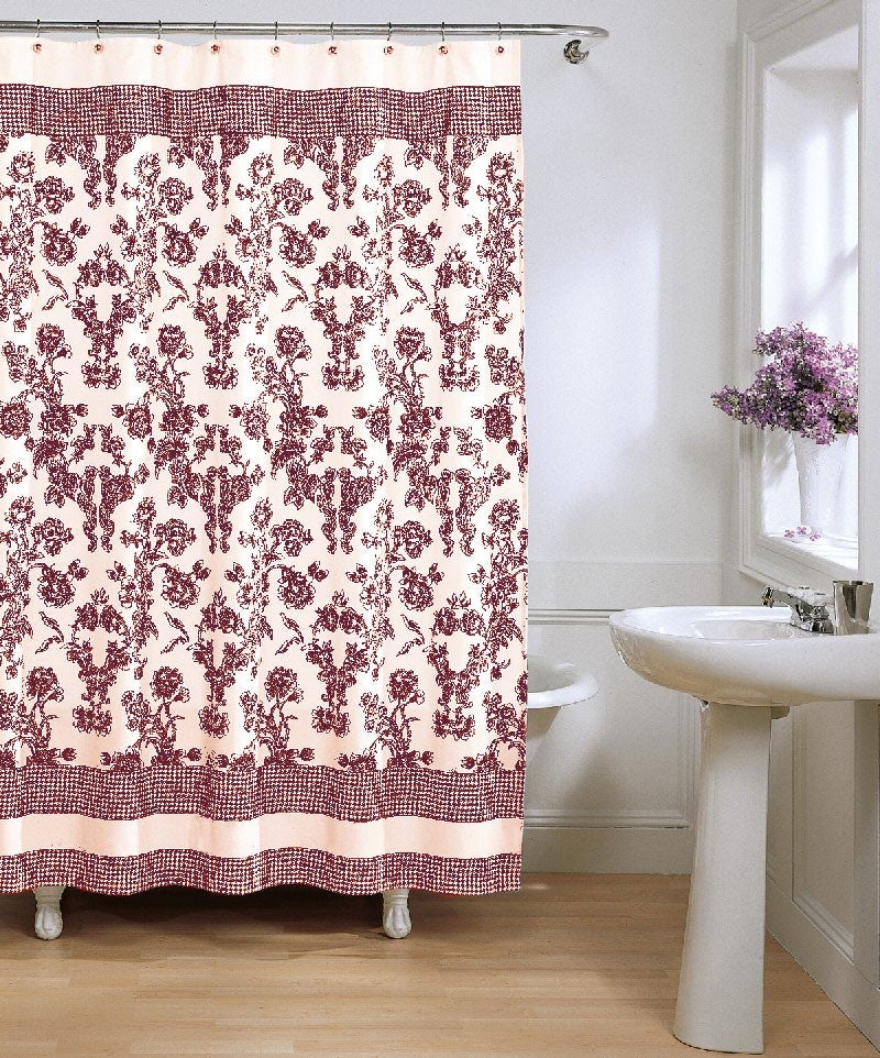 Shop Toile Fabric Shower Curtain