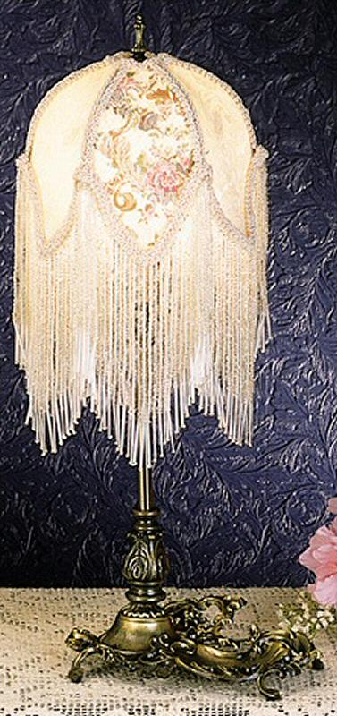 Victorian Style Glass Beaded Lamp Free Shipping On