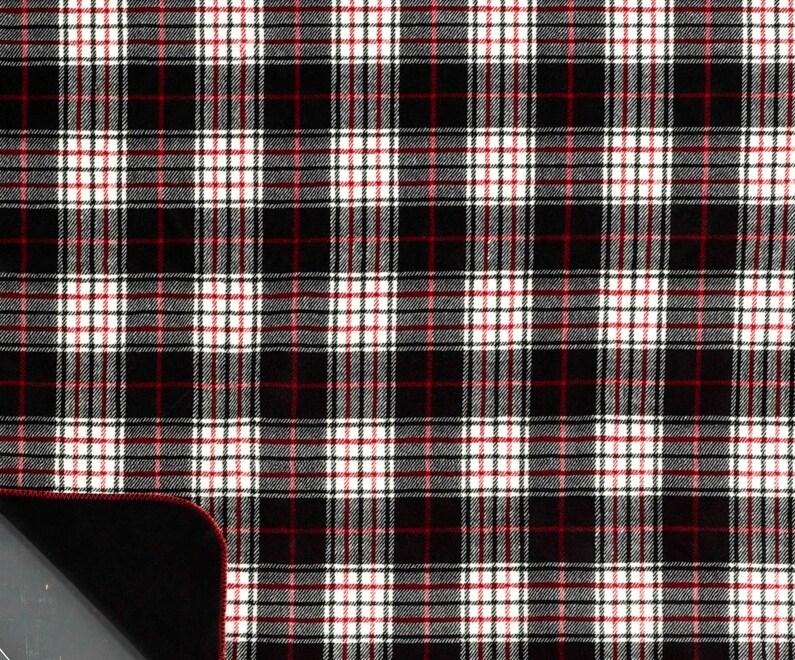 Black Plaid King-size Denali Duvet Cover - Thumbnail 1