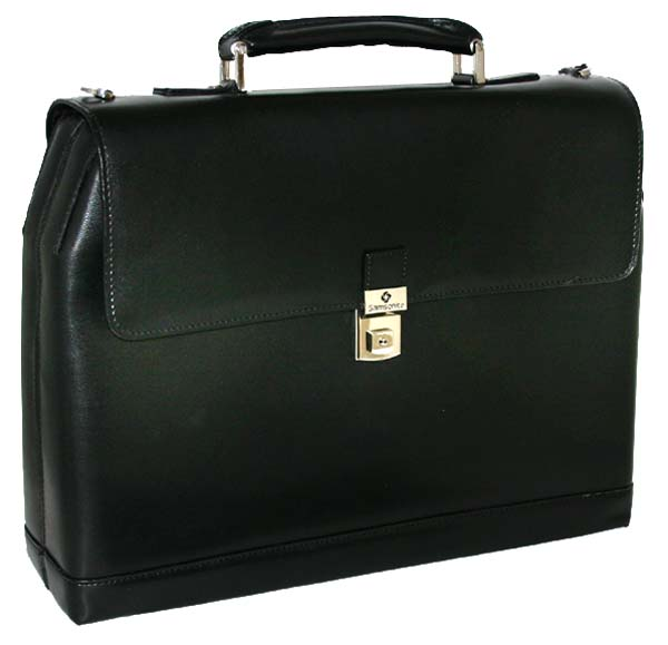 Thumbnail 2, Samsonite Executive Leather Hardside Portfolio Briefcase. Changes active main hero.