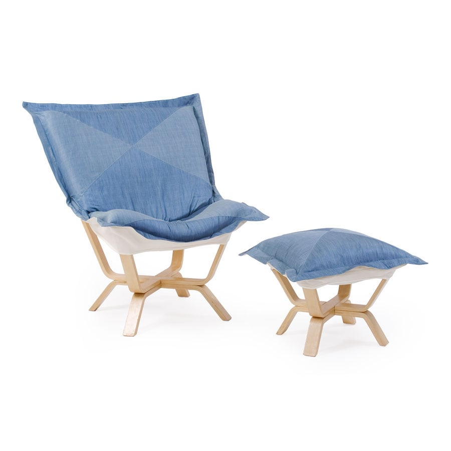 Maple Wood Glacier Shantung Heavenly Chair - Free Shipping ...