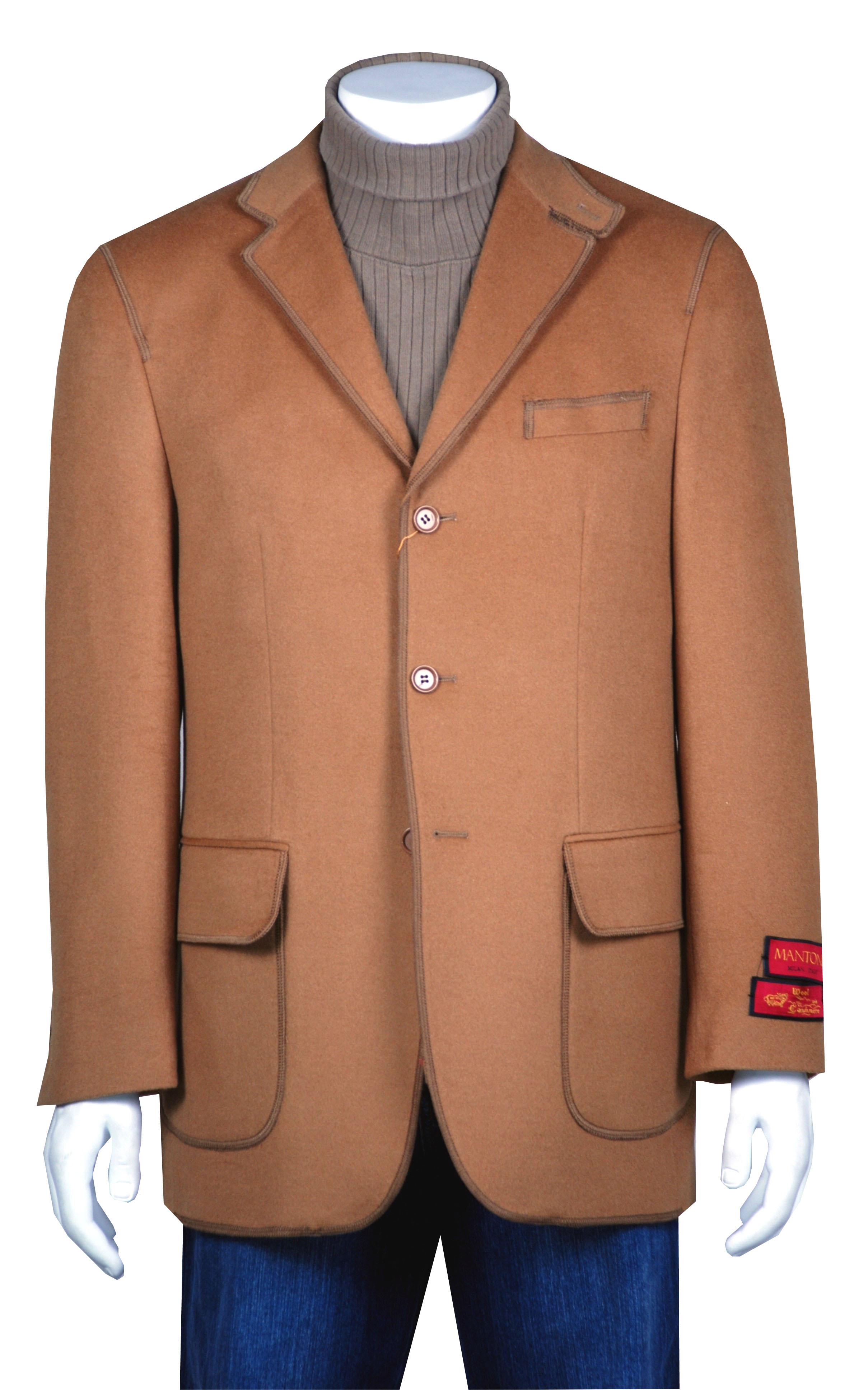 Shop Mantoni Men S 3 Button Camel Winter Sport Jacket