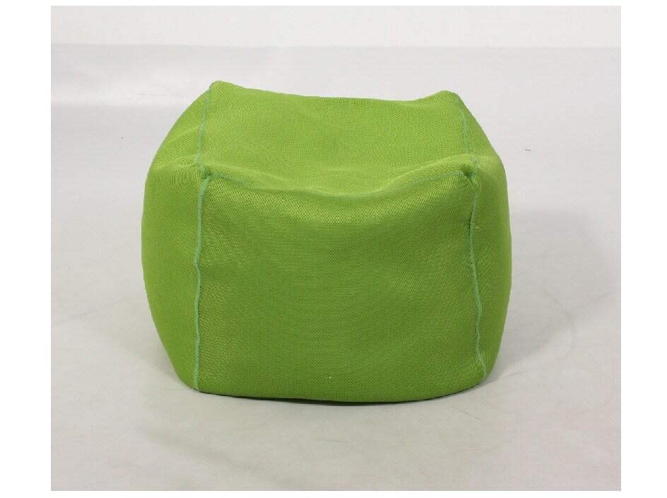 Shop Cube Lime Mesh Bean Bag Ottoman Free Shipping On
