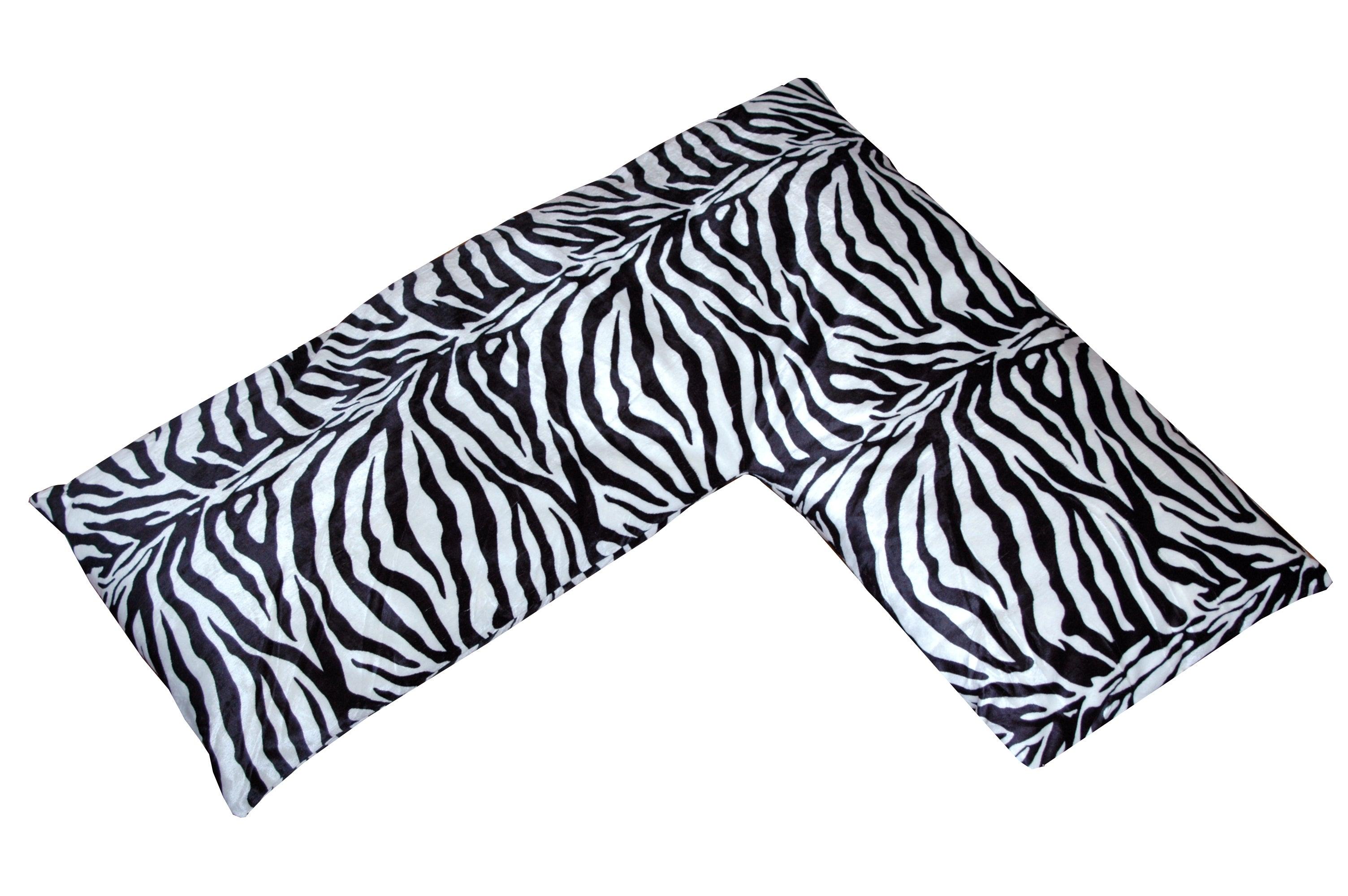 Plush Animal Print L-shaped Body Pillow - Thumbnail 1
