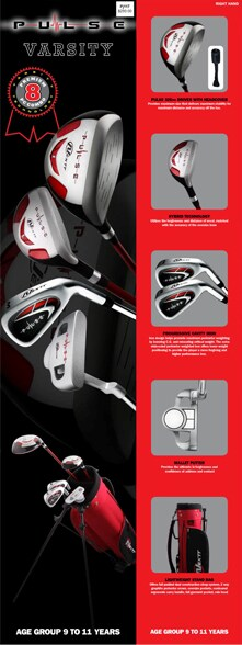 Nextt Pulse Varsity (V1) 9-11 Junior 8-piece Golf Set - Thumbnail 1