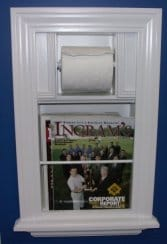 Recessed Bathroom Magazine Rack and Toliet Paper Combo Unit