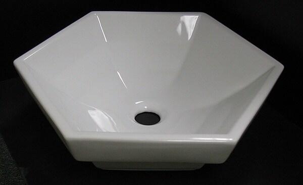 Denovo 6 Sided Semi Recessed Porcelain Vessel Sink Free