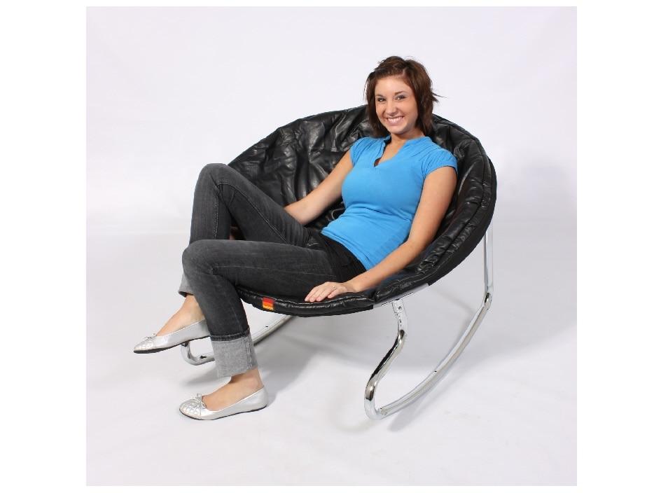 Shop Lovesac Media Rocker Chair Black Vinyl Free