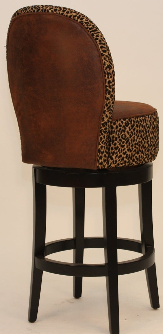 Nova Leopard Print Swivel Stool Free Shipping Today