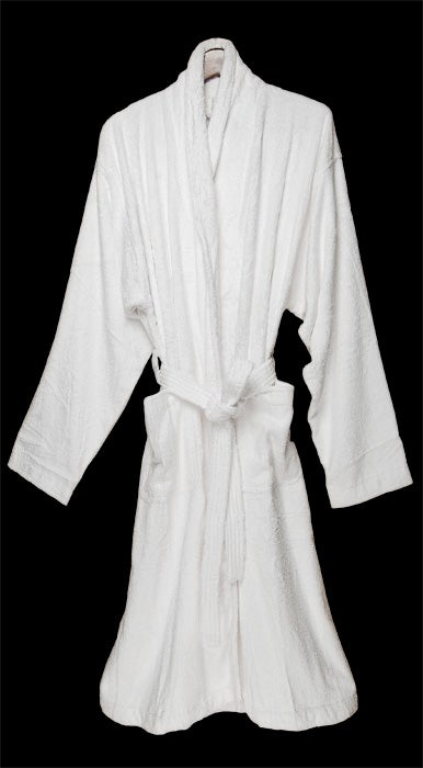 White Rayon from Bamboo Bath Robe - Thumbnail 1