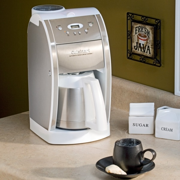 Cuisinart Grind And Brew Coffee Maker White : Cuisinart DGB-600BCW White Grind and Brew Coffee Machine - Free Shipping Today - Overstock.com ...
