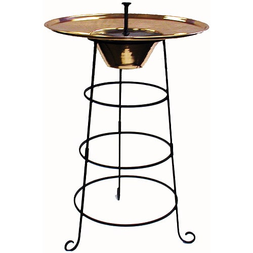 Copper Solar Birdbath Free Shipping Today Overstock