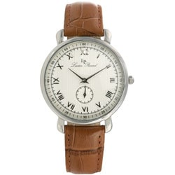 Lucien Piccard GTS Stainless Steel Brown Strap Watch - Thumbnail 0