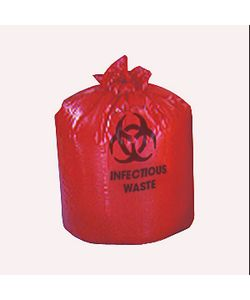 Medline Liner Red 24 inch x 33 inch 15 Gallon (Case of 250)
