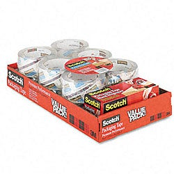 3M Premium Extra-strength Clear Packaging Tape/ Dispenser (Pack of 12 Rolls)
