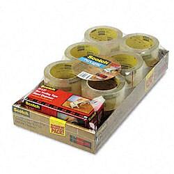 3M Premium Performance Super Clear Packaging Tape & Dispenser - 12 Rolls