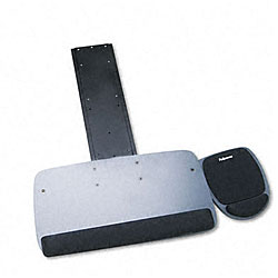 Fellowes Underdesk Fully Adjustable Keyboard Platform & Mouse Tray