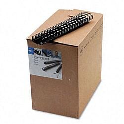 CombBind Plastic Binding Combs - 50 Combs/Box Black