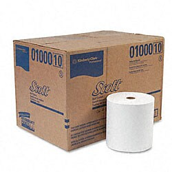 Recycled Nonperforated Paper Towel Rolls - 12 Rolls/Carton