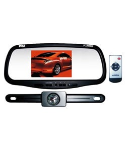 Thumbnail 1, Pyle 5.8-inch LCD Rearview Mirror Monitor with Camera (Refurbished).