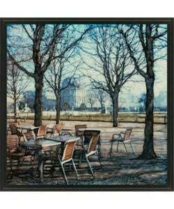Gallery Direct Ernesto Rodriguez 'Tuileries' Framed Canvas Art