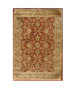 Hand-tufted Narena Rust Wool Rug (8'9 x 13') - Thumbnail 0