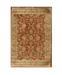 Hand-tufted Narena Rust Wool Rug (8'9 x 13') - 8'9 x 13'