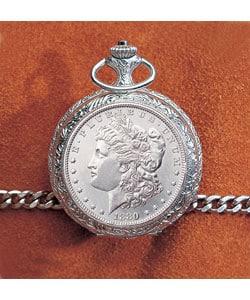 American Coin Treasures Morgan Silver Dollar Pocket Watch