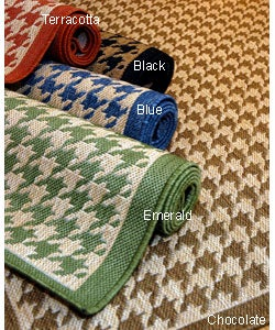 Houndstooth Area Rug (9'6 x 12'9) - Thumbnail 0
