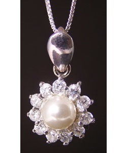 Handcrafted Silver Pearl Pendant (Thailand)