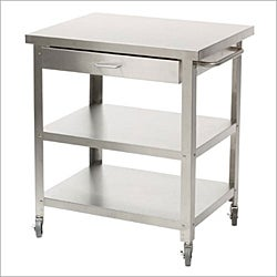 Medium Stainless Steel Rolling Kitchen Cart