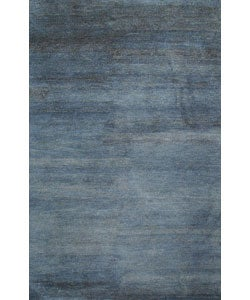 Hand-tufted Luxor Blue Wool Rug (5' x 8'). Opens flyout.
